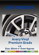 COSWORTH Alloy Wheel Vinyl Stickers - Graphics X 6