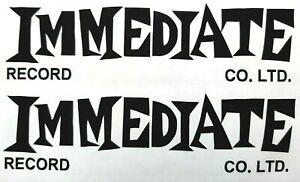 Immediate record label stickers X 2 record box scooter mod soul