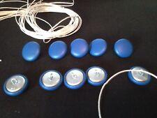 Botones De Tapicería. bucle Cable + longitud de hilo 10 X NO24 Azul Vinilo/Imitación CE