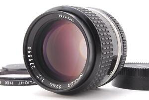 Near MINT/ NIKON Ai-s 85mm F2 NIKKOR Lens MF SLR film camera from Japan #0494
