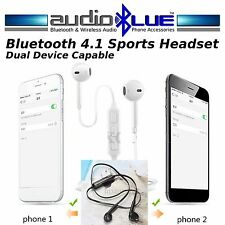 AudioBlue Bluetooth 4.0 Sports Stereo Headset - Connect phone/devices Mic Stereo