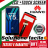 DISPLAY LCD+TOUCH SCREEN x HUAWEI Y5 2018 DRA-L01 L02 L21 L22 L23 SCHERMO VETRO!