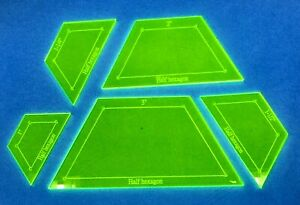 "Acrylic Template ""Half Hexagon"" for English Paper Piecing Fabric Cutting"