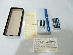 Sheaffer No Nonsense Calligraphy Pen, and2 Extra  Nibs  no date on box -