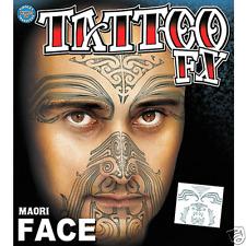 Maori Costume Face Kit Temporary Tattoo FX Tinsley Transfers Costume