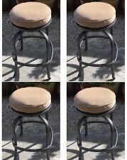 Patio Swivel Bar Stool Short With Cushion set of 4 Outdoor cast aluminum seats