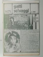 Gatti selvaggi. N. 2. Marzo  - aprile 75, controcultura, contestazione, puzz