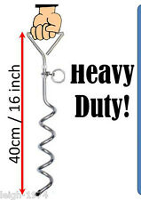 Heavy duty Festival Screw in Tent Pegs tie down anchors x 12 Recorded Delivery
