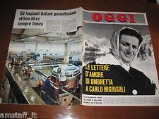 RIVISTA OGGI 1964/46=OMBRETTA GALEFFI=CARLO CARRA'=VALIA TERESKOVA=SBRAGIA=