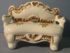 Vintage Porcelain Victorian Style Miniature Dollhouse Doll Couch Sofa