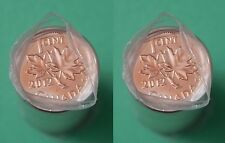 2012 Canada Magnetic & NonMagnetic 1 Cent Full Roll (100 Coins) Mint Wrapped