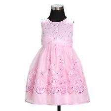 Flor Niñas Fiesta Vestido Dama de Honor Boda Vestido Marfil Rosa 3 4 5 6 7 Años