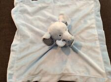 New with Tags Carter's Light Blue Elephant Stripes Baby Security Blanket Lovey
