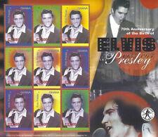 Elvis Presley C3500 Ghana Souvenir Stamp Sheet 9 Stamps 2005 #2498 70th Birthday