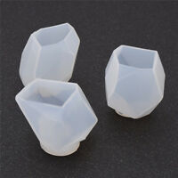 Clearly Polygon Candle Silicone Mold 3D Candle Moulds DIY Handmade Soap Making