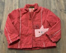 Oilily Girl's Long Sleeve Multicolored Corduroy Button Up Jacket Size: 98 (2T)