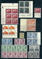 NICE LOT LUXEMBOURG STAMPS MOSTLY IN BLOCKS MINT NEVER HINGED EXCEPT 1