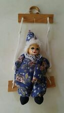 MARIONETTE VINTAGE CLOWN STRING PUPPET DOLL ON A SWING PREOWNED
