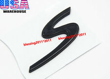 S Letter Rear Lid Trunk Boot Emblem Badge For Porsche Turbo Cayenne Glossy Black