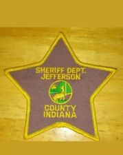 New Sheriff Department Jefferson County Indiana Madison Hanover Shoulder Patch