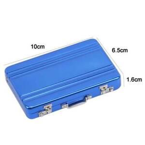 Unisex Mini Metal Briefcase Design Business Bank Card Name Card Holder Case SL