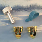 PEDAL STEEL GUITAR PLAYERS ~ .0225 BRASS ~ MED BLUE 52M ~ 4 PC PICKS / TUNER SET for sale