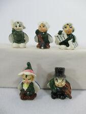 Bug Figurines Vintage Anthropomorphic Ladybug Newsboy Violin Flower Japan 5 pcs