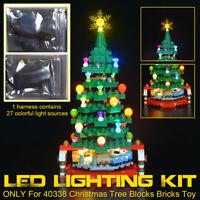 LED Licht Beleuchtung Set nur Für lego 40338 Weihnachtsbaum Blöcke Steine