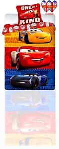 Disney Cars Duvet Set,Single Duvet Cover&Pillowcase,Official Licensed(200X140cm)