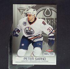 PETER SARNO /750  RC  2003-04 Titanium Retail #120  Edmonton Oilers  Rookie