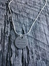 Thank You For Loving Me As Your Own Stepmom Step-dad Silver Gift Necklace