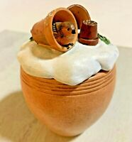 Marjolein Bastin Hallmark Nature's Sketchbook Flower pots Bird Candle Holder Pot