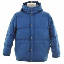 POLO RALPH LAUREN Boys Padded Jacket 14-15 Years Large Blue Polyester +  FV17