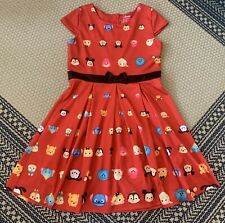 Disney TSUM TSUM Girl's Character Red Dress Girls Size XL (14-16) Mickey Mouse
