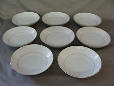 """8 """"White Lace"""" Fruit Bowls, Southwicke Porcelain China, Made In Japan"""