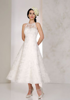 2020 Vintage Lace Tea Length Wedding Dress Bridal Gown Party Prom Dresses 6-18