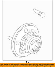 FORD OEM Brake-Front-Wheel Hub & Bearing 4L2Z1104AA