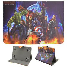 The Avengers Leather Stand Folio New Cover Case For Samsung Galaxy Tab E 7/8/9.6