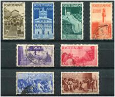 1946 Serie Avvento della Repubblica 8 valori USATI