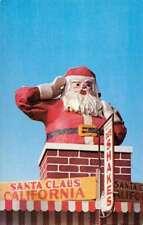 Santa Claus California Giant Statue Vintage Postcard K88855