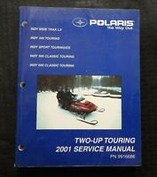 2001 POLARIS INDY WIDE TRAK LX 340 500 600 SPORT CLASSIC TOUR SNOWMOBILE MANUAL