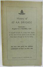 C.J. Titchener, History of the 62 A.A. Brigade, USA WW2 pb c.1946 War