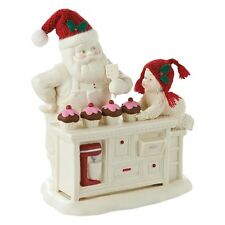 SNOWBABIES Baking In The Kitchen With Santa Figurine Ornament Gift Boxed