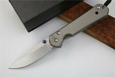New CNC Full CR TITANIUM Handle D2 Blade Sebenza 21 Style Folding knife KF-12