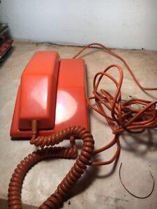 Ancien telephone northern electric poste contempra mars 1977 orange vintage
