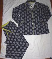 NWT PJ Salvage Cat Print Cotton Modal Jersey Knit Pajamas Lounge Set Size 1X