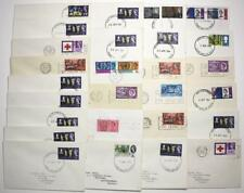 GB 1963 - 1966 First day Covers x 27. Mostly Low Values with Various Handstamps