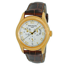 PATEK PHILIPPE 18K Yellow Gold 37mm Annual Calendar Month 5035 Warranty 5035-J