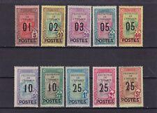 A423 1925 Tunisia Ivert 110/119 nuovi linguellati euro 80.-