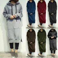 Women Hoodies Sweatshirt Long Sleeve Casual Loose Tops Sweats Coat Plus Solid